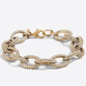 NWT ✨ J Crew Gold Crystal Chunky Link Bracelet 💛
